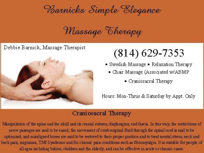 Barnicks Simple Elegance Massage Therapy