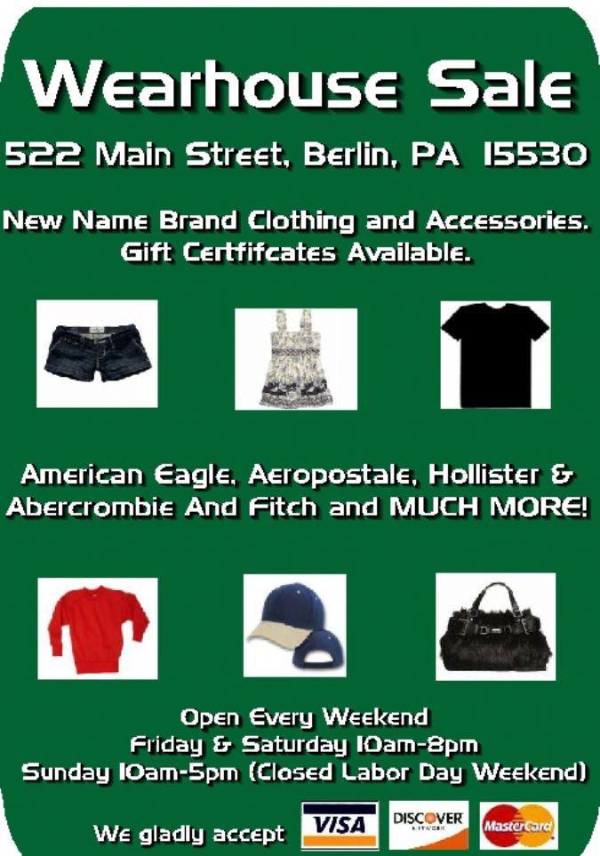 Wearhouse Sale